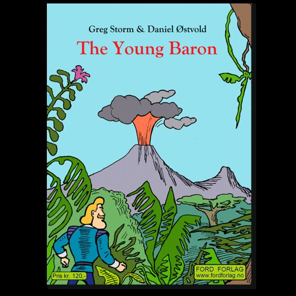 Forside til tegneserieheftet «The Young Baron» av Daniel Østvold (ISBN 978-82-93512-18-9)