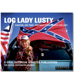 Forside til «Log Lady Lusty» av Lill-Ann Chepstow-Lusty (ISBN 978-82-93512-19-6)