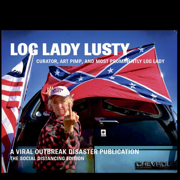 Forside til «Log Lady Lusty» av Lill-Ann Chepstow-Lusty (ISBN 978-82-93512-19-6)